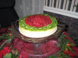 10 Inch Cheesecake - decorated with fresh fruit
