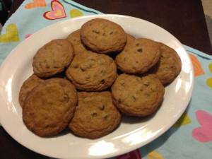 1 1/2 Dozen Large Flat Chocolate Chip Cookies