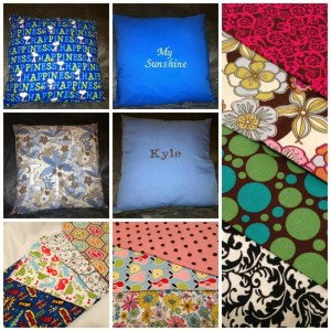 $25 Custom 16 x 16 Pillow (sorry brown with polka dots sold out)