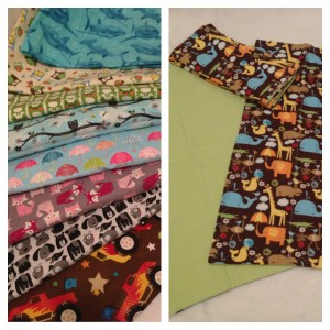 $20 Set of 5 custom burp cloths (sorry dog and jungle animals sold out)